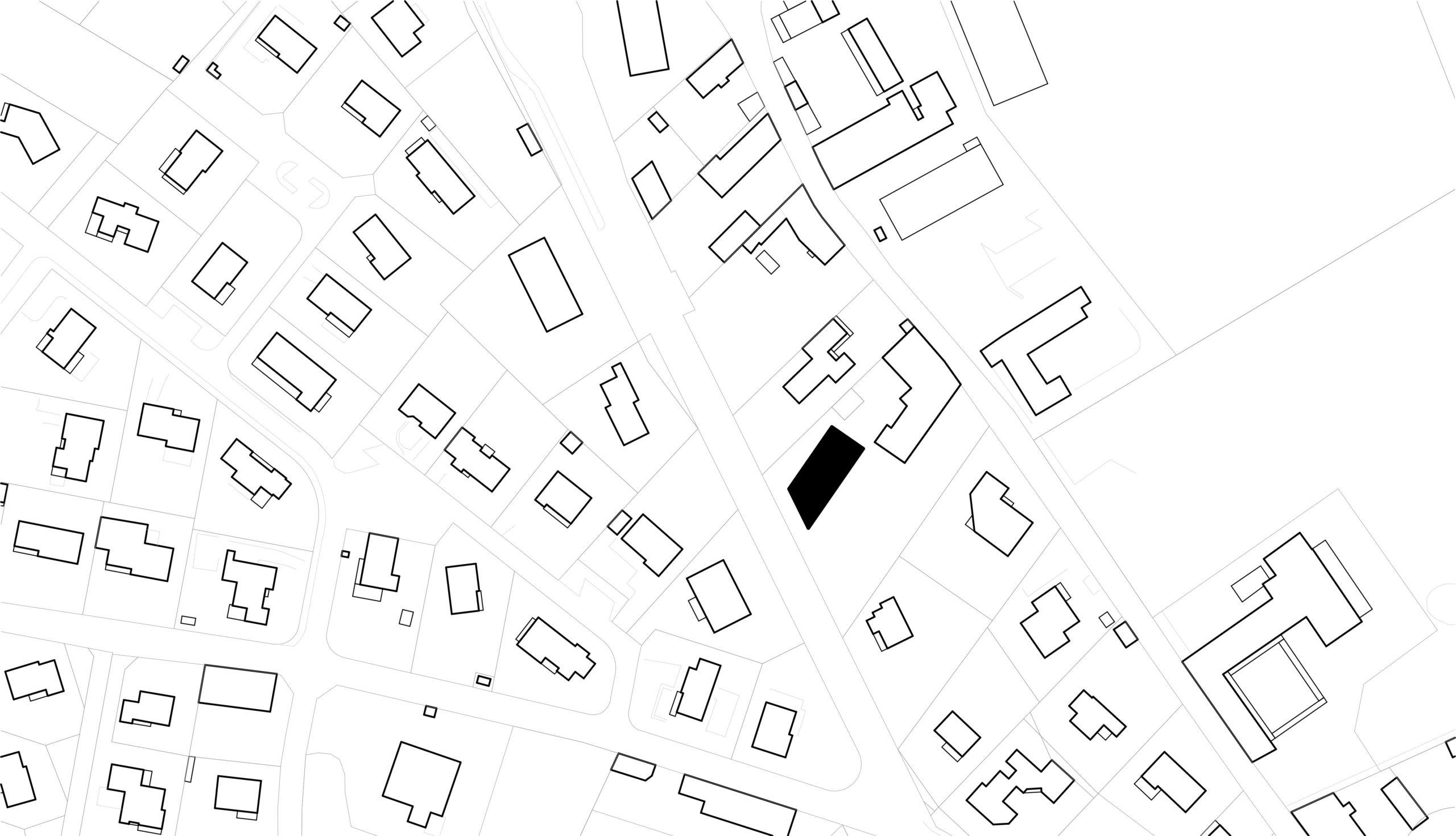 logements sociaux - plan masse maison collective